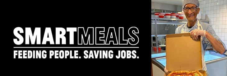Smart Meals banner with chef