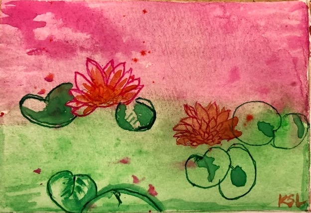 Kirsty L - Waterlilies Watercolour