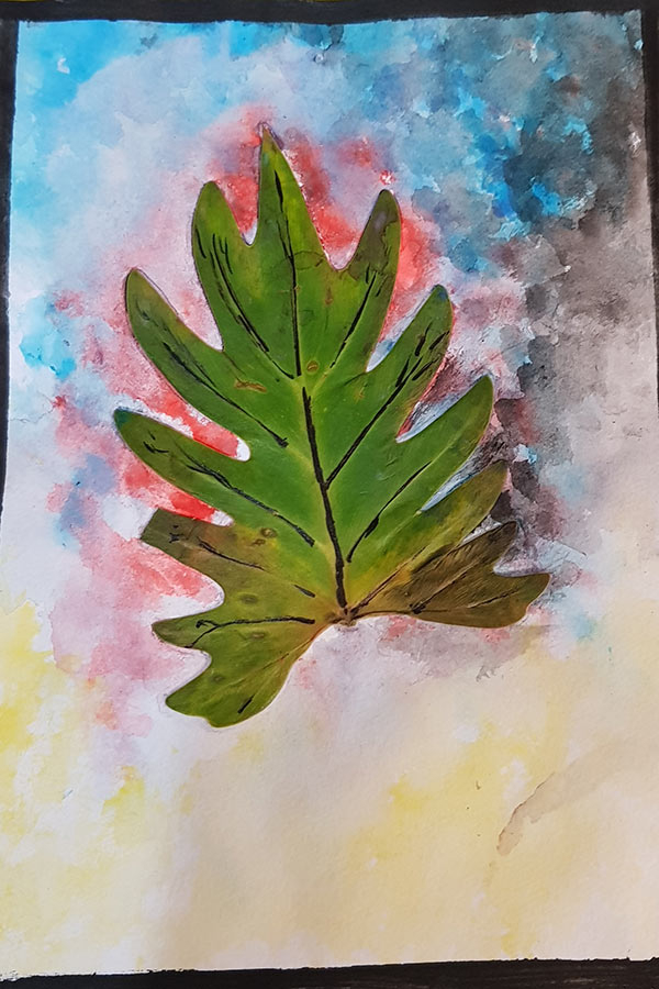 Nina - Leaf Watercolour