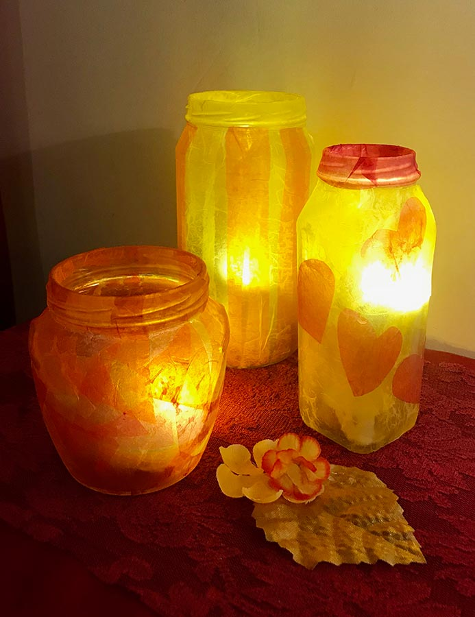 Tanya - Decoupage Glass Lanterns