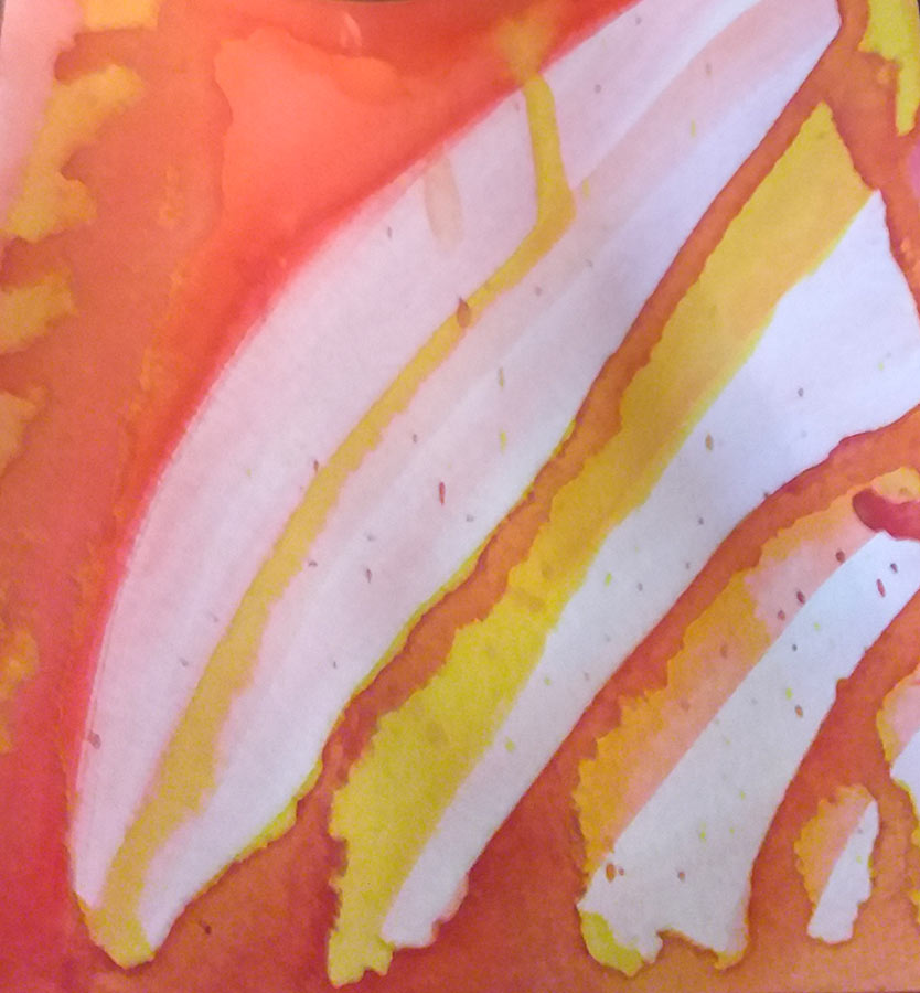 Varinia - Dripping Watercolour detail