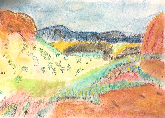 Kirsty L - Landscape Soft Pastels. Creative Welbeing Art Group - Recovery & Discovery Centre