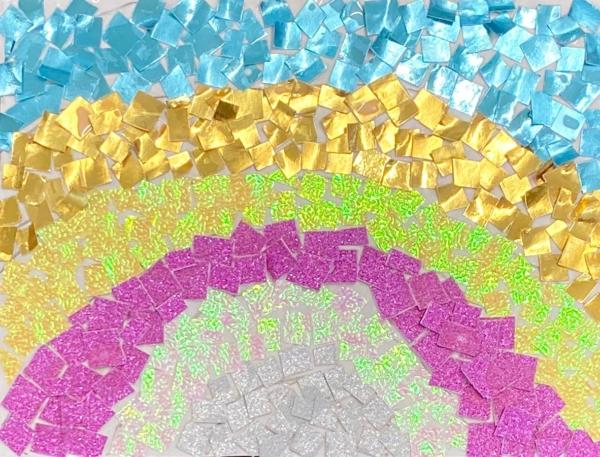 Chigiri-e rainbow