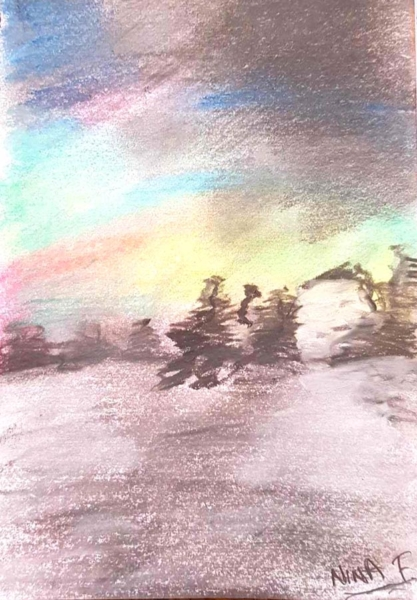 Nina - Landscape. Creative Welbeing Art Group - Recovery & Discovery Centre