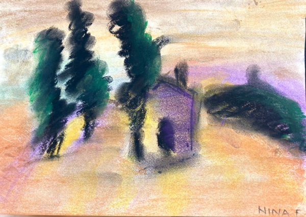 Nina - Soft Pastels. Creative Welbeing Art Group - Recovery & Discovery Centre