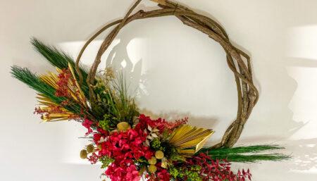Dried Christmas Wreath Workshop